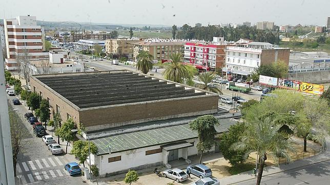 Panorámica del pabellón situado en la avenida de Cádiz