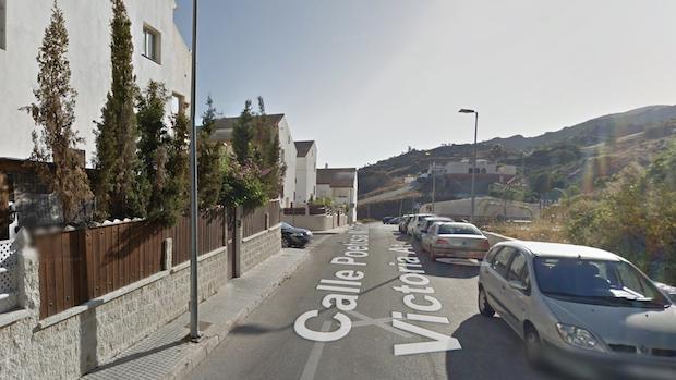 Calle Poetisa María Victoria Atencia, una de las pocas con nombre femenino en Cártama
