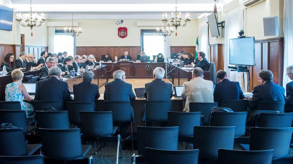 Peritos en el juicio del caso ERE que se celebra en la Audiencia de Sevilla
