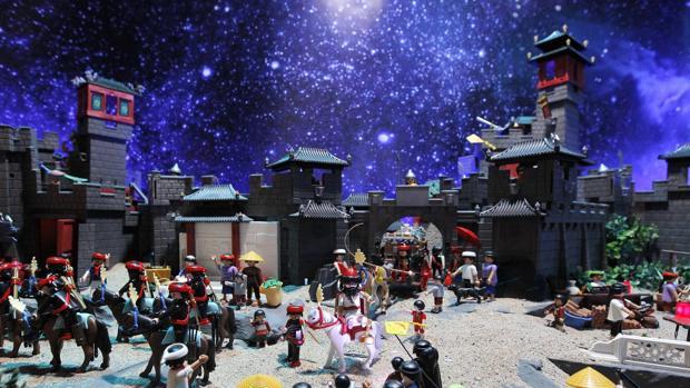 Belén de Playmobil ubicado en el centro de la capital hispalense