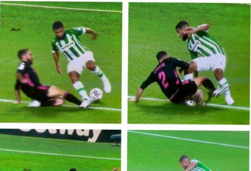 El penalti de Carvajal a Fekir en el Betis - Madrid