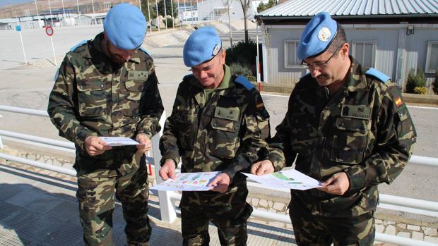 Militares desplegados en la misión de Líbano