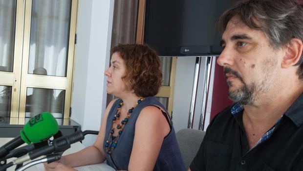 La presidenta y el gerente de Vimcorsa, en el Ayuntamiento