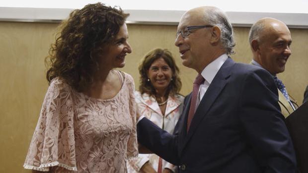 La consejera Montero y el ministro Montoro