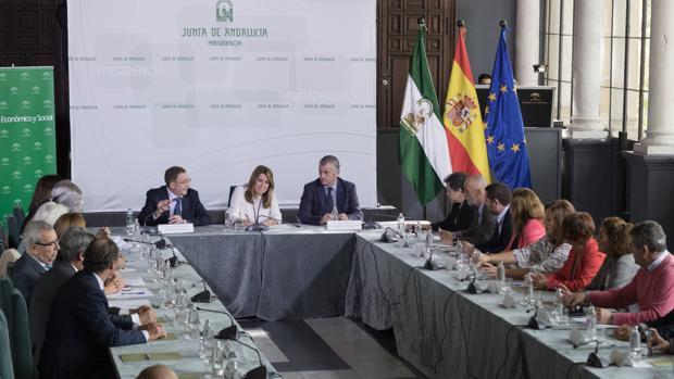 La presidenta de la Junta, Susana Díaz, ayer, en el Palacio de San Telmo
