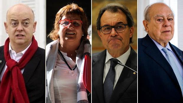 Odón Elorza, Dolors Bassa, Artur Mas y Jordi Pujol