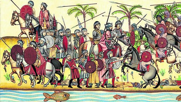 Recreación de la batalla del Guadalete