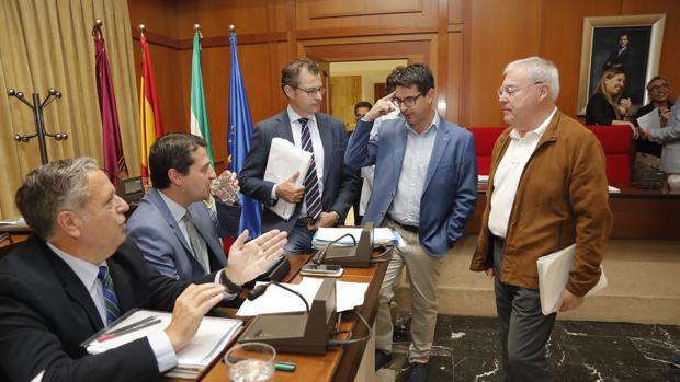 Ediles del PP, Cs, IU y PSOE, en el Pleno