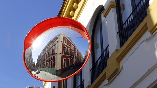 Obras recientes en el hotel del antiguo edificio de Endesa, dentro del casco histórico
