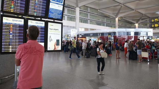 El aeropuerto de Málaga, lugar donde tuvo lugar el suceso