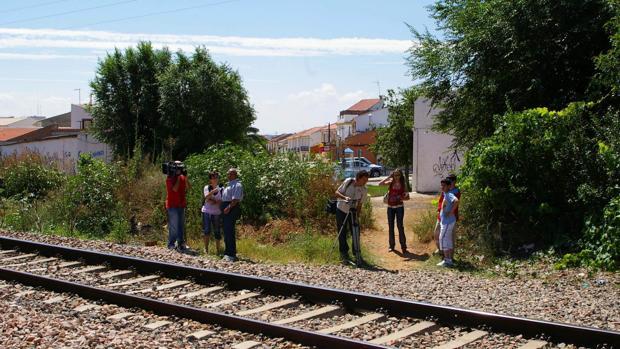 Imagen de archivo del paso del ferrocarril por el municipio de Posadas, en Córdoba