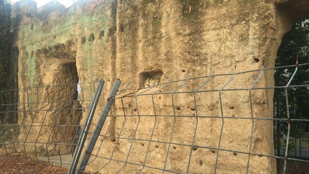 Estado actual de la muralla, en pleno Centro Histórico