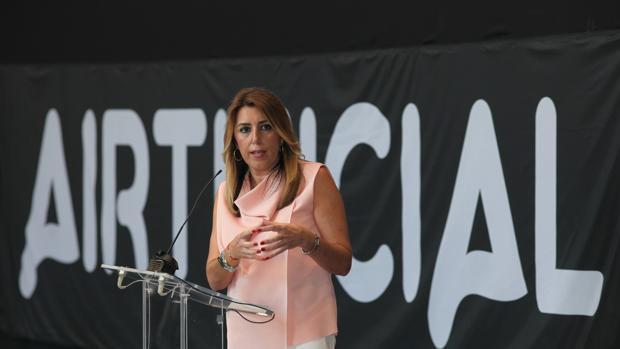 La presidenta de la Junta, Susana Díaz en un acto celebrado ayer en el Puerto de Santa María