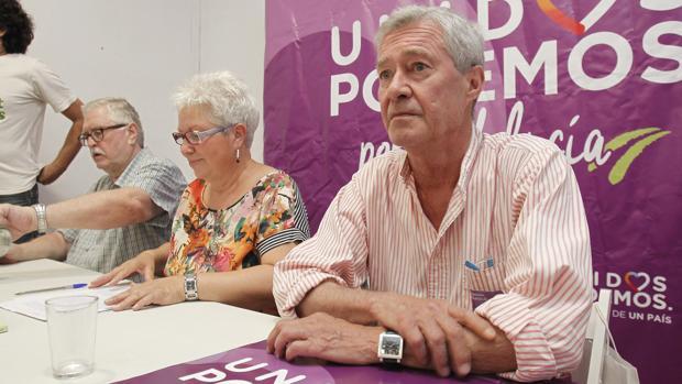 Jorge Vesrstrynge, durante un acto de Unidos Podemos celebrado en Córdoba en 2016