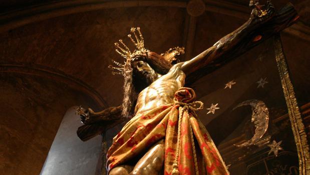 Santísimo Cristo del Remedio de Ánimas en la parroquia de San Lorenzo Mártir
