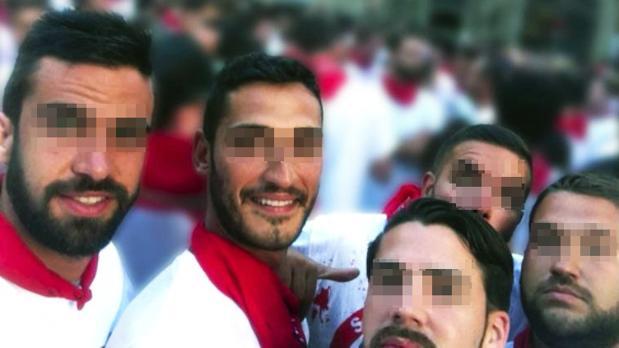 Los miembros de La Manada en una imagen en San Fermín