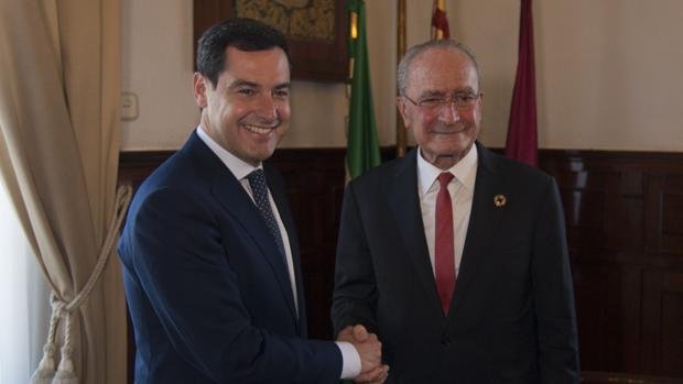 Juanma Moreno y Francisco de la Torre en su encuentro del jueves