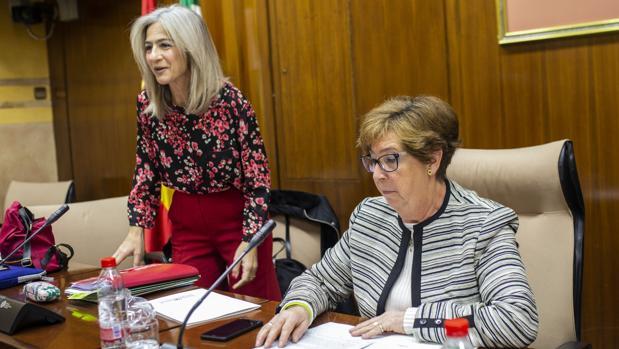 Patricia del Pozo y la presidenta de la comisión de Cultura, Ana Gil