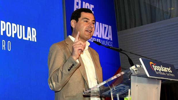 Moreno durante el acto celebrado este sábado en Marbella