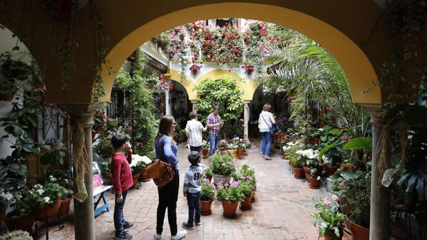Turistas en uno de los patios participantes en el último concurso
