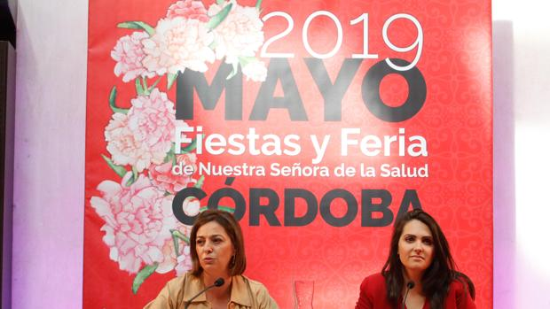 Ambrosio y González en la presentación del cartel