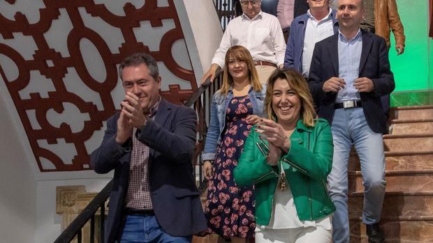 Susana Díaz, ayer en la sede del PSOE andaluz