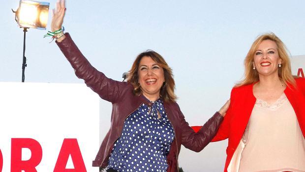 La secretaria general del PSOE de Andalucía, Susana Díaz ha participado en el municipio almeriense de Adra, a la presentación de la candidatura de Teresa Piqueras a la Alcaldía