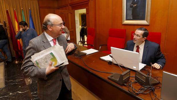 Luis Martín en un Pleno municipal de este mandato
