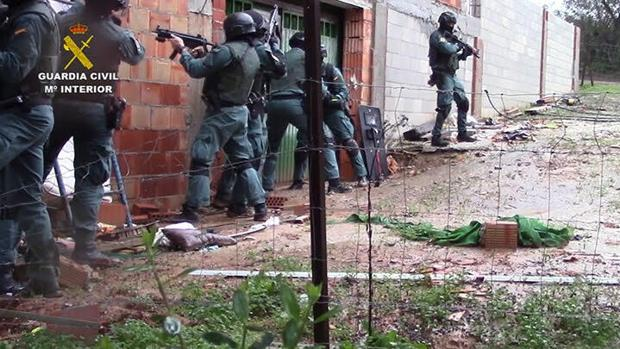Imagen de archivo de la operación «Albarracín» que la Guardia Civil realizó en el Campo de Gibraltar