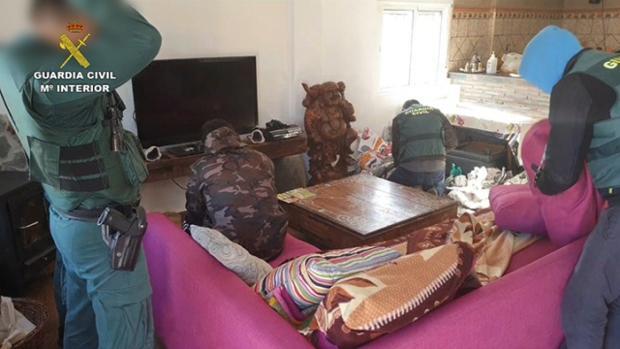 Imagen de la operación «Green», realizada hace sólo unos días por la Guardia Civil