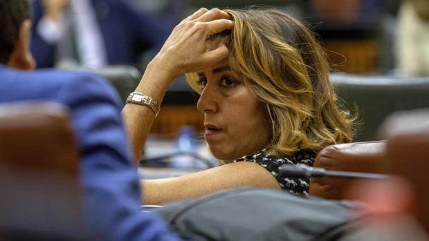 La secretaria general del PSOE andaluz, Susana Díaz,, en el Parlamento de Andalucía