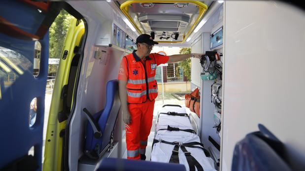 Interior de una ambulancia en Córdoba