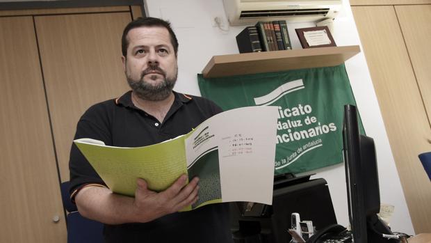 Carlos Sánchez, presidente del Sindicato Andaluz de Funcionarios