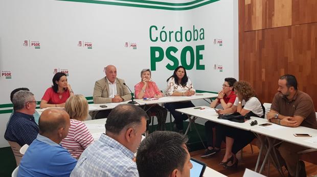 Antonio Ruiz preside la reunión del PSOE de este lunes