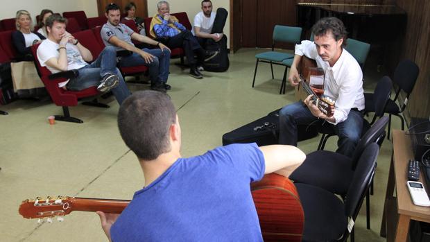 Clases en el Conservatorio Superior de Música Rafael Orozco de Córdoba