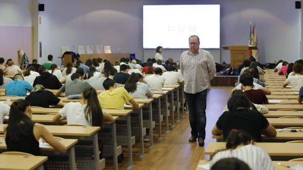 Imagen de la última prueba de selectividad en Córdoba