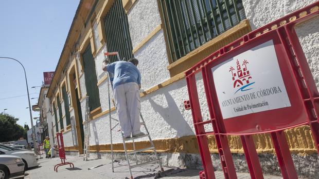Trabajos del Ayuntamiento de Córdoba en el antiguo colegio Rey Heredia