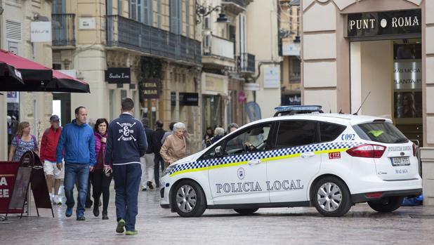 Un coche patrulla de la Policía Local de Málaga