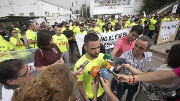 Manifestación de los trabajadores de ABB a principios de julio