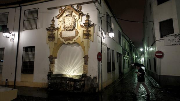 Fuente de la Piedra Escrita, en el barrio de San Agustín de Córdoba