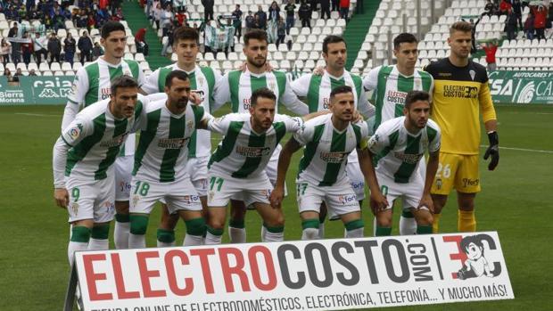 Último once del Córdoba CF la pasada temporada