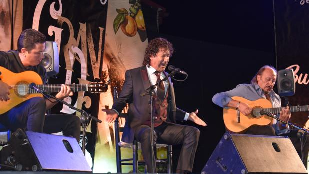 El pontanés Julián Estrada durante su actuación en el festival