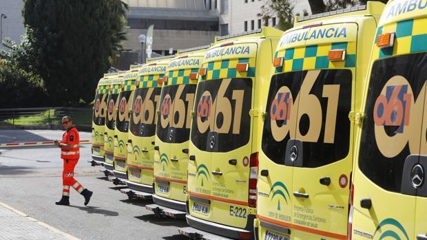 Ambulancias del 061 en Córdoba