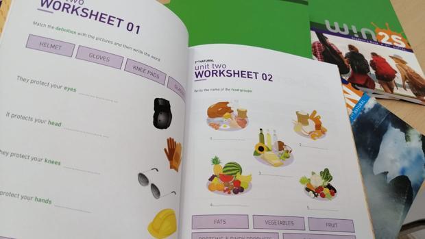 Imagen de uno de los libros con las actividades para refozar los contenidos