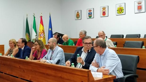Algunos de los participantes en el pleno del Consejo Económico y Social del Campo de Gibraltar