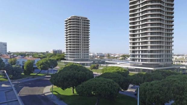 Imagen virtual de las torres proyectadas en el municipio