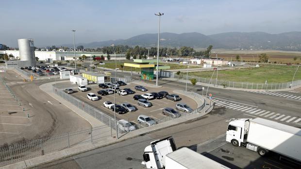 Vista del parque logístico de Córdoba, en la carretera de Palma del Río