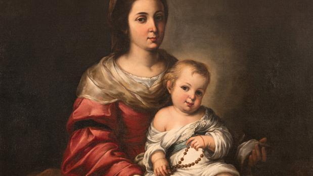 «Virgen del Rosario con el niño Jesús»