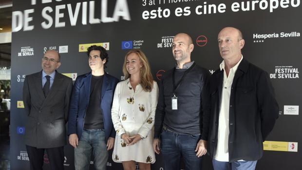 Benito Navarrete, Bernabé Rico, Isabel Ojeda, José Manuel Gómez y Paco Gómez Zayas