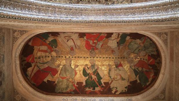 Presentación de la la restauración de las pinturas sobre cuero